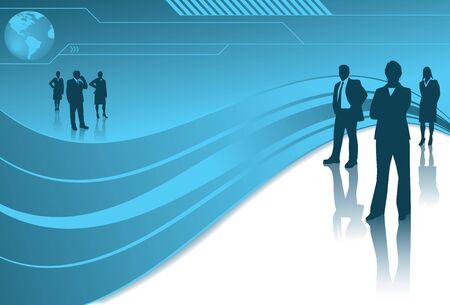 globális üzleti: Global Business Csapatok Illusztráció