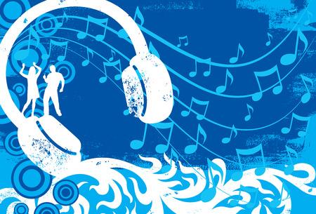 headphones woman: Headphone dancers