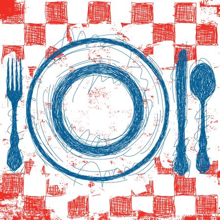 place setting: Blue Plate Special