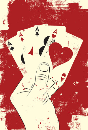 poker hand: Four aces poker hand
