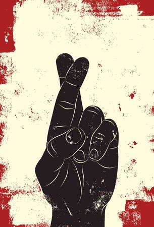 dedo: Cruza los dedos