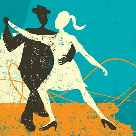 Two Tango Dancers Illustration