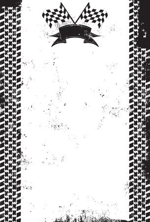 체크 무늬 레이싱 플래그