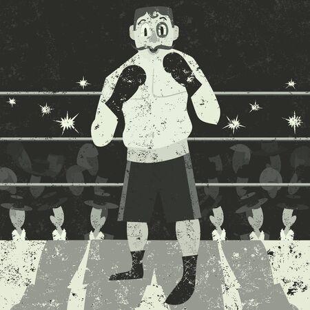 shirtless: Boxer Illustration