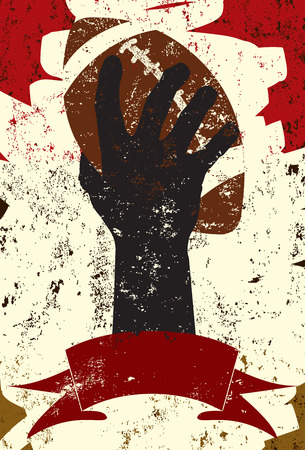 Arm raising a football Illustration