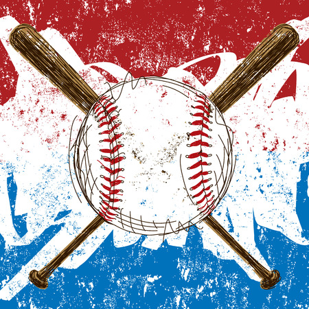 Baseball Flag background Иллюстрация
