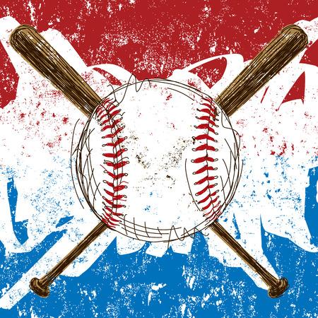 Baseball Flag background Illustration