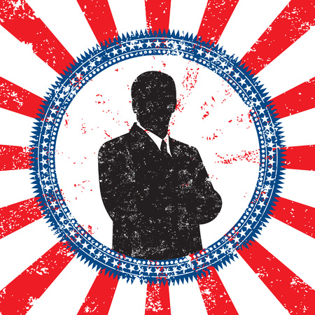 congressman: Male political candidate Illustration