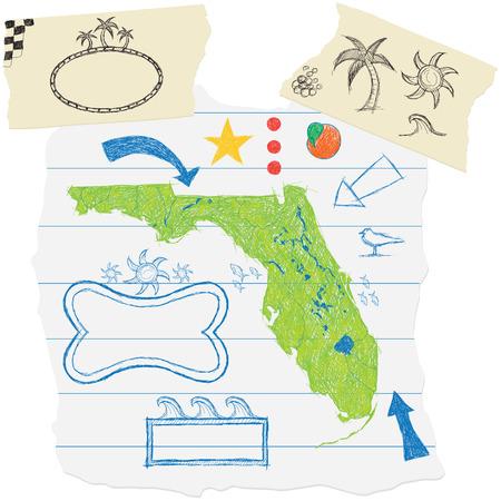 Florida Doodles Ilustração