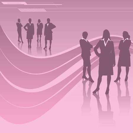 Women in Business Vettoriali