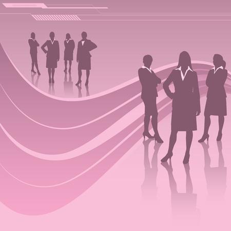 Women in Business Illustration