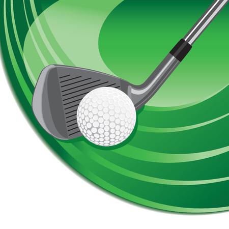 Iron hitting a golf ball