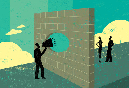 conexiones: Gritando a través de una pared de ladrillo