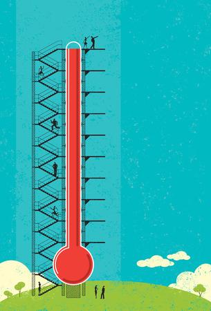 온도계 기금 모금