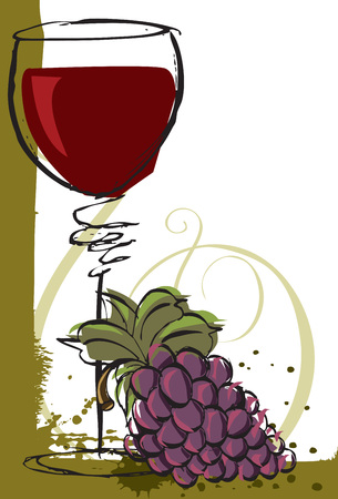 Pinot Noir with grapes
