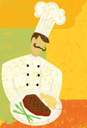gourmet: Gourmet Chef Illustration