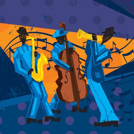 Jazzband Stock Illustratie