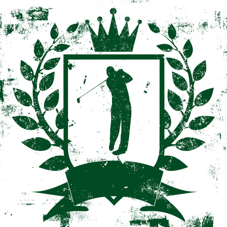 distressed: Golf Shield Insignia