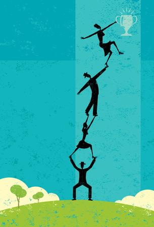Successful Teamwork Иллюстрация
