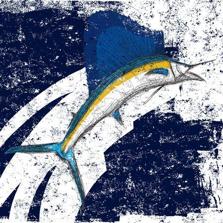 pez vela: abstracto pez vela
