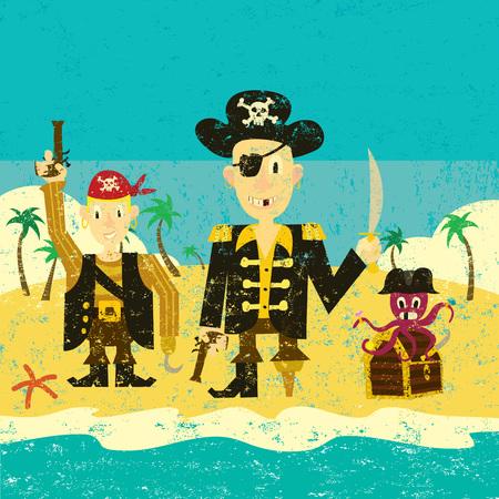 costume eye patch: Three pirates on an island