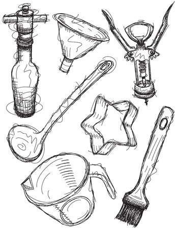 Kitchen items sketches
