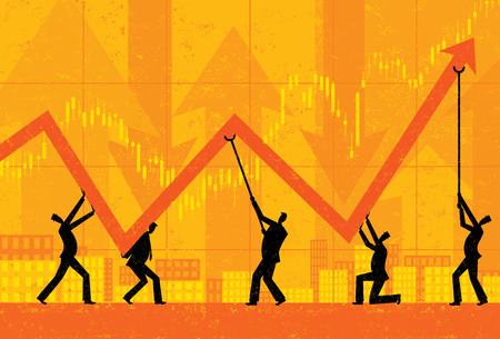growth arrow: Maintaining Profits Illustration