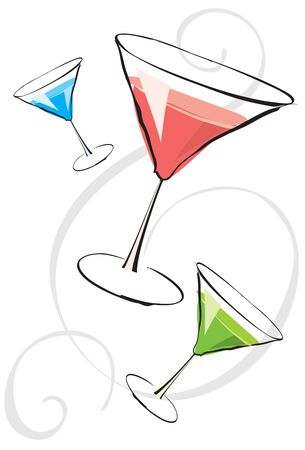 Assorted martinis