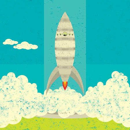 raumschiff: Raumschiff-Start