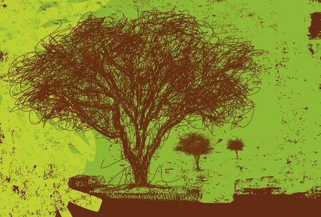 line drawings: Sketchy trees