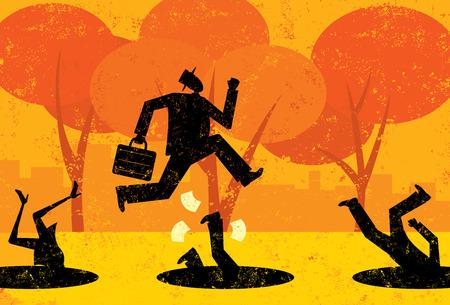 Avoiding Business Pitfalls Illustration