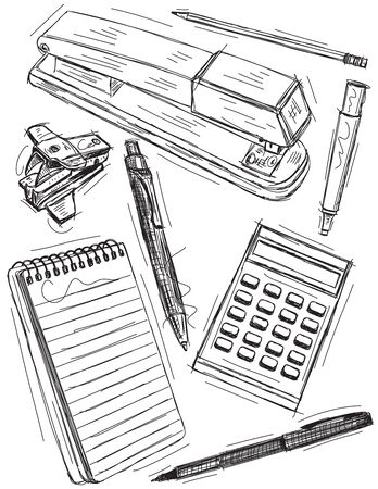 pencil drawing: Office Supplies