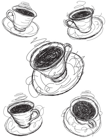 coffee: Coffee cup sketches