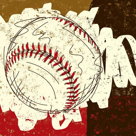 line drawings: Baseball background Illustration