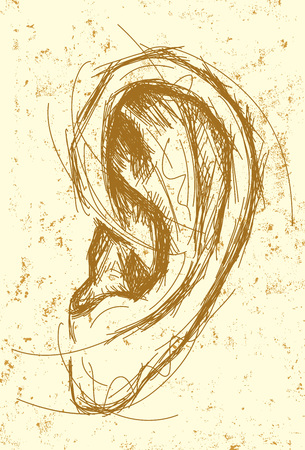 Ear-Zeichnung Standard-Bild - 45948587