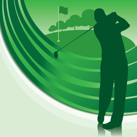 hit man: Golfer teeing off