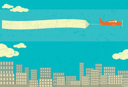 Airplane Advertising Illustration