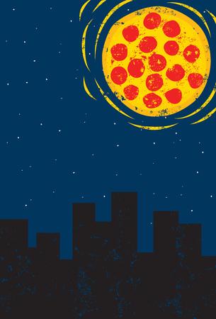 tonight: Pizza Tonight! Illustration