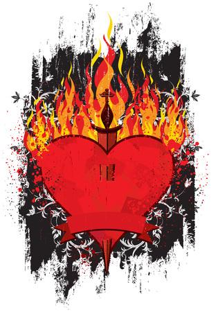 burning heart: Burning Heart Dagger