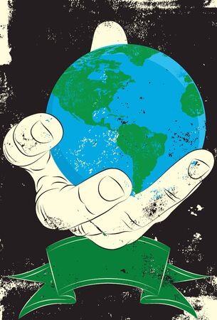 Earth in Hand 向量圖像