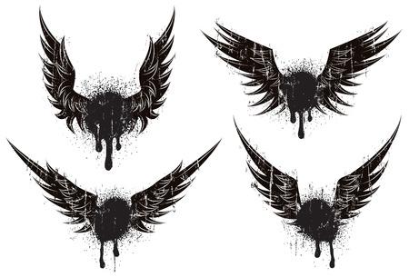 Graffiti Wings Ilustracja