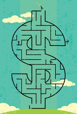Key to Wealth Maze 版權商用圖片 - 47720453