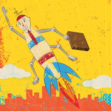 rocket: Rocket Boy Illustration
