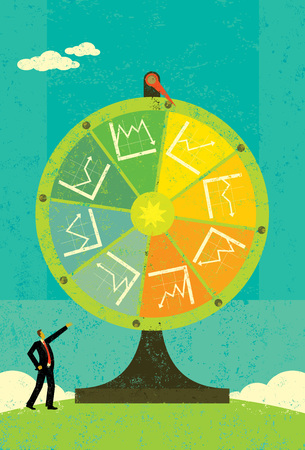 wheel of fortune: Financial Fortune Wheel Illustration