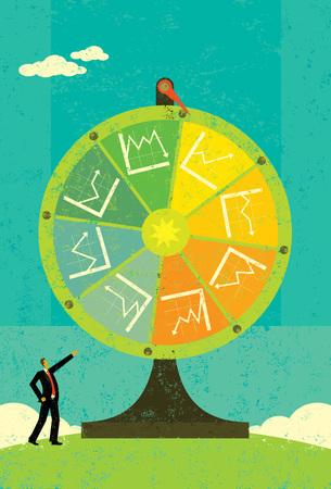 rueda de la fortuna: Rueda de la fortuna financiera Vectores