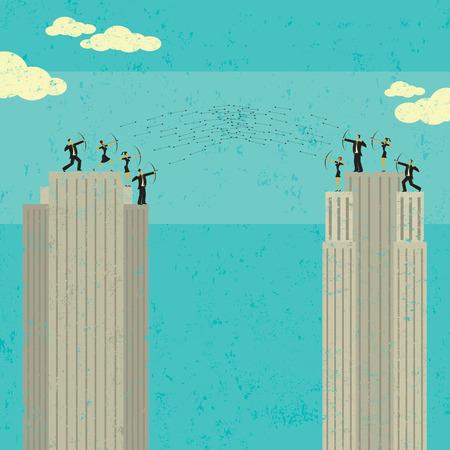 conflict: Business War Illustration