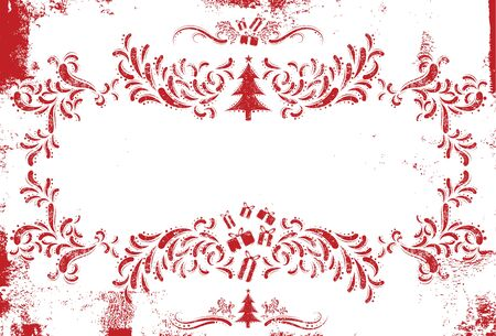 christmas scroll: Christmas scroll frame for text Illustration