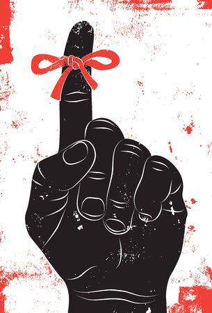 reminder: Reminder string on finger
