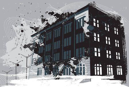 streetlight: Destroyed building