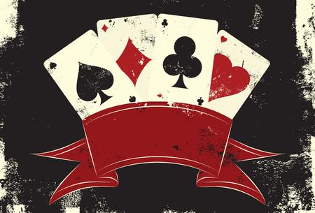 cartas poker: Jugando a las cartas insignias Vectores